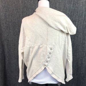 Billabong 1/2 zip Hoodie with snap-back Small